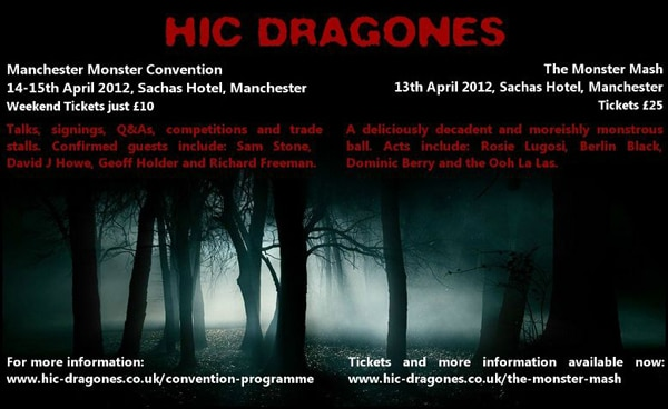 Manchester Monster Convention Happening in the UK April 14th and 15th