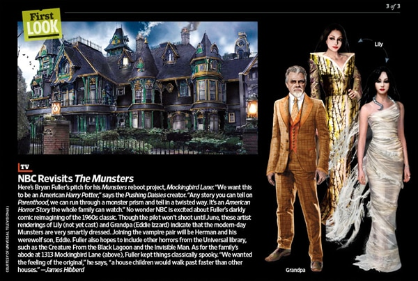 First Concept Art for Munsters Redux Mockingbird Lane (click for larger image)