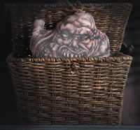 Cuddle Up with Horror Decor's Basket Case Pillow My Lil Belial!