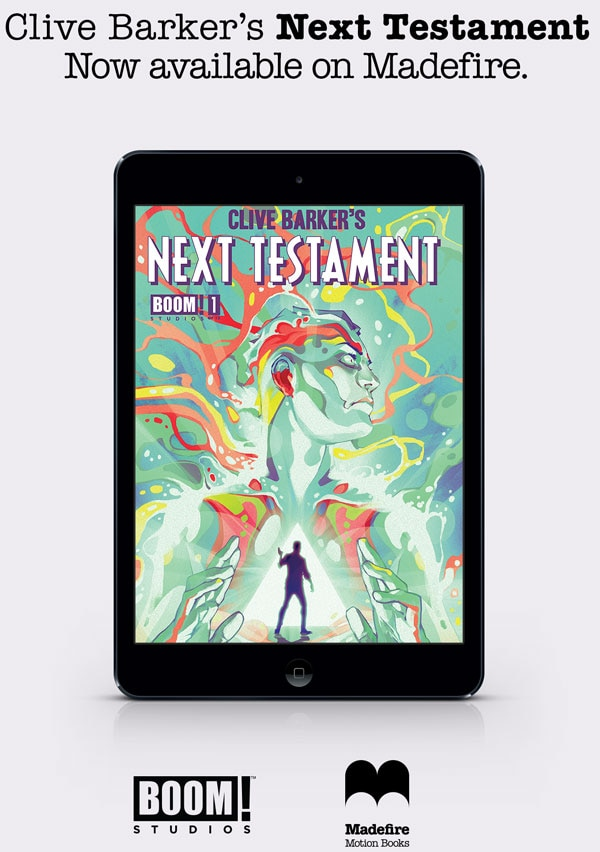 Boom! Studios to Release Clive Barker's Next Testament Issue #1 in May