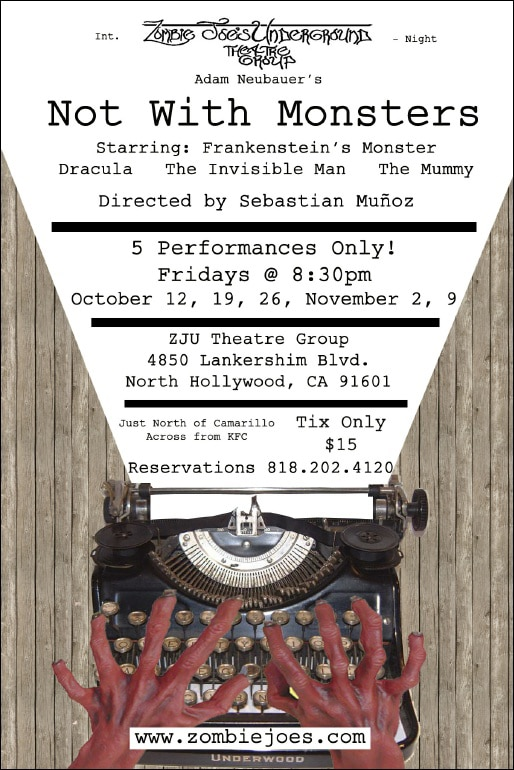 LA's ZJU Theatre Group Kicks Off the Halloween Season with 'Not with Monsters'