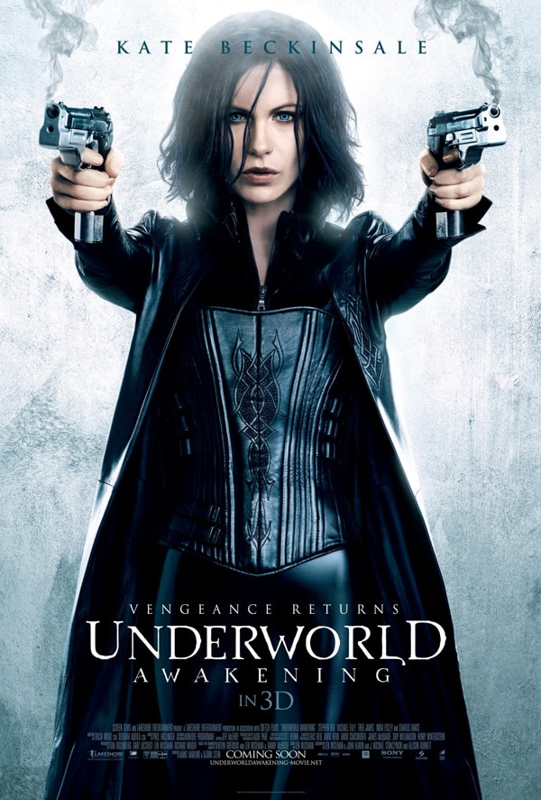 Kate Beckinsale Firing With Both Barrels in Latest Underworld: Awakening One-Sheet