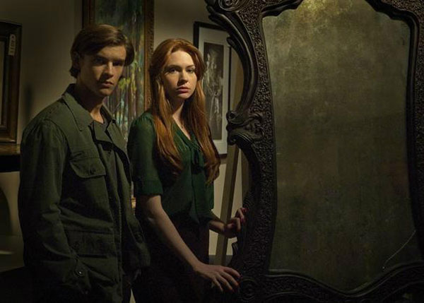 Doctor Who's Karen Gillan Unwraps the First Still from Oculus