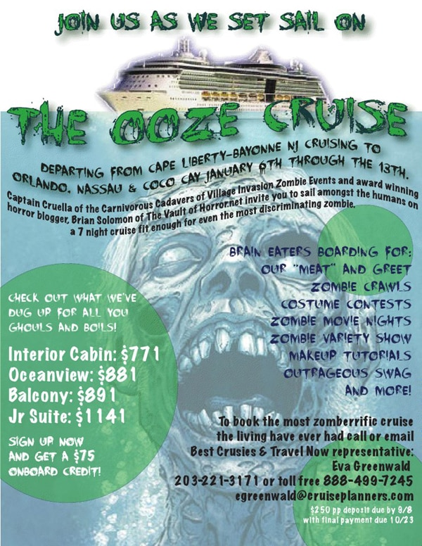 Even Zombies Need a Vacation - Set Sail on the Ooze Cruise