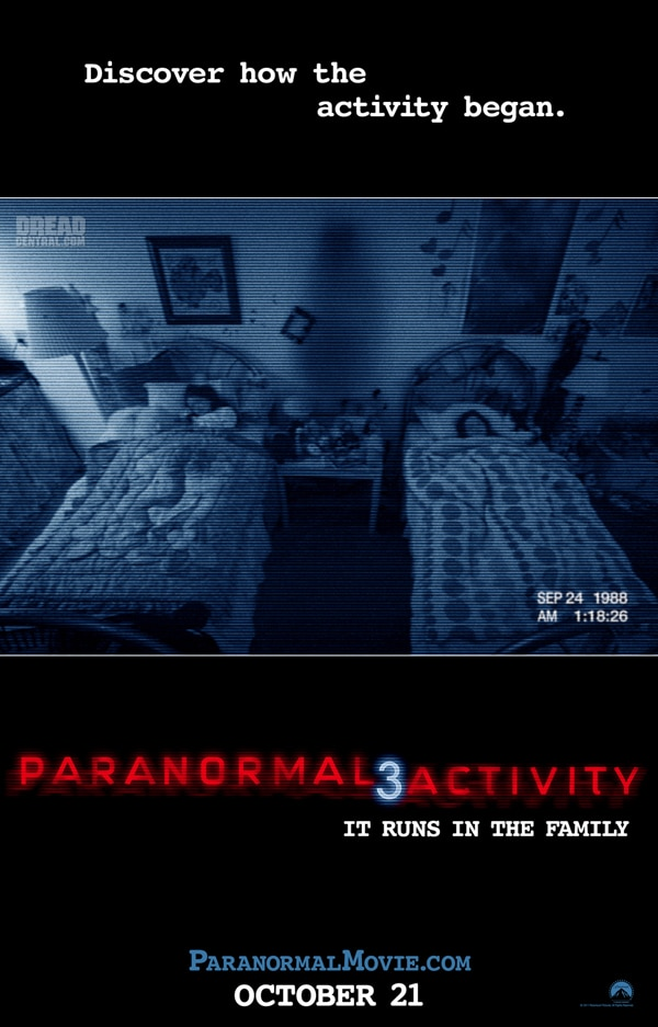 Paranormal Activity 3 - Official Review; Premiere Cities Announced, New Reaction Trailer! (click for larger image)