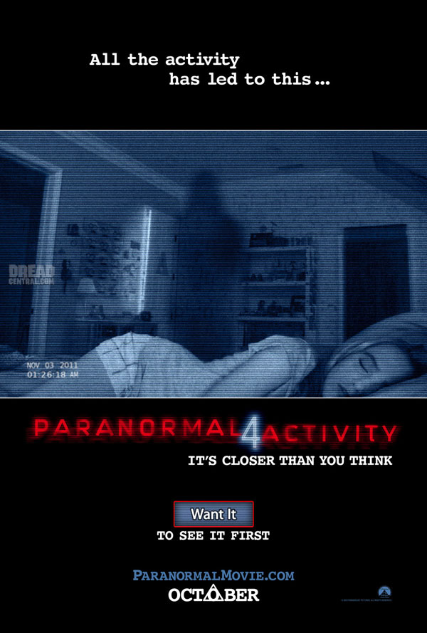 Paranormal Activity 4 - Want It Winning Cities Revealed! New Trailer!