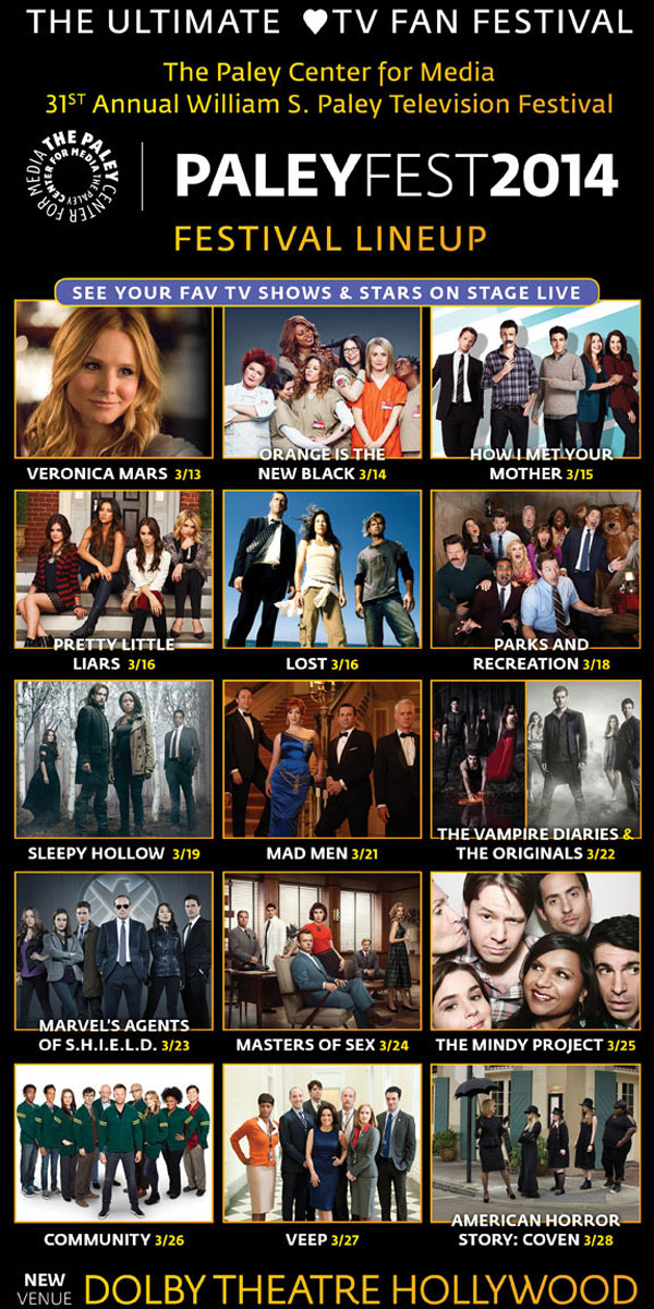 Full PaleyFest 2014 Lineup Announced; See the Horror Highlights Here!