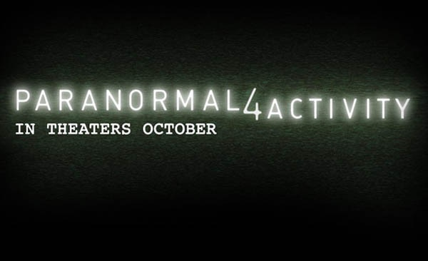 Official Paranormal Activity 4 Title Treatment