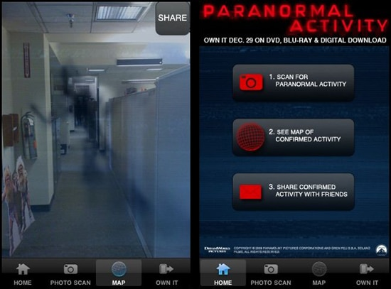 Get the Free Paranormal Activity App from iTunes