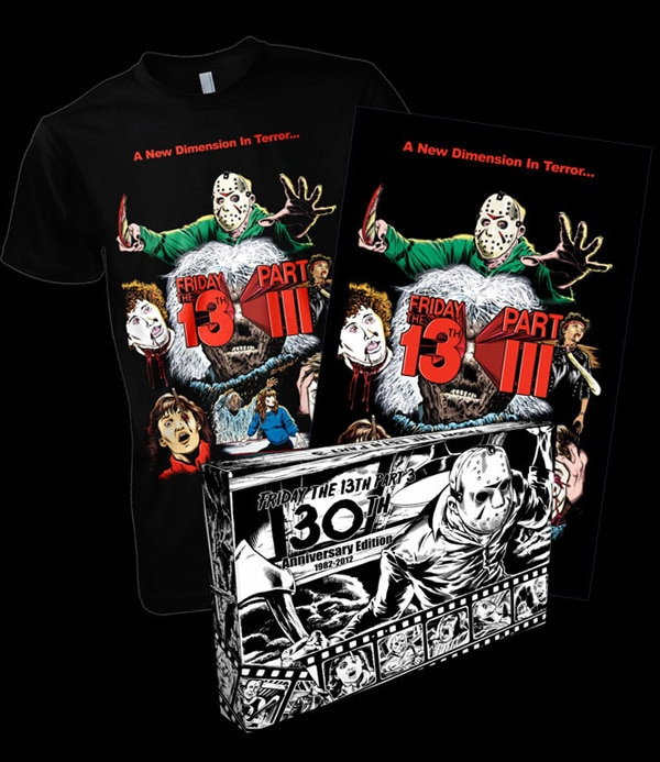 Creepy Tees Commemorates Friday the 13th Part III With a Bitchin' Box Set!