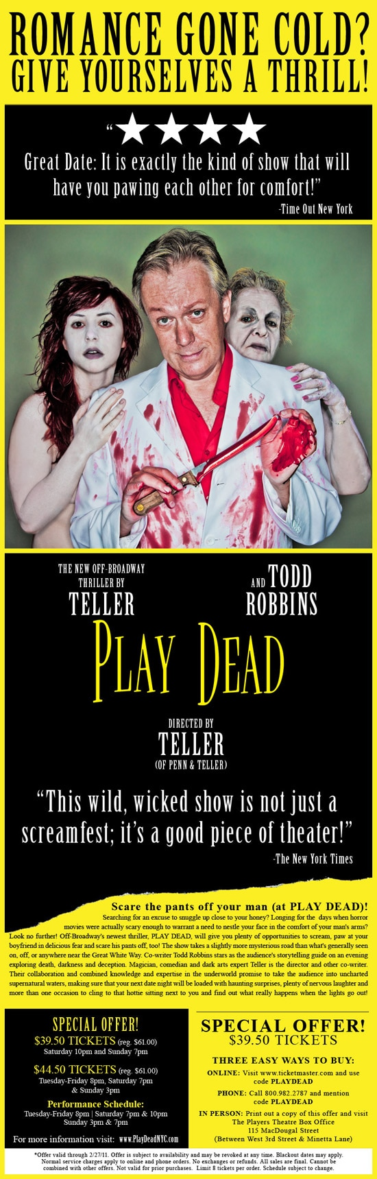 Todd Robbins and Teller's Play Dead Now Running in Los Angeles Through December 22