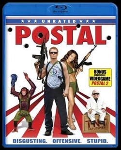 Postal available on DVD and Blu-ray (click for larger image)