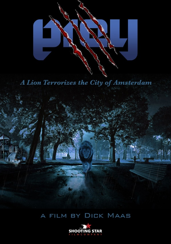 prey one sheet - A Man-Eating Lion on the Hunt in Prey