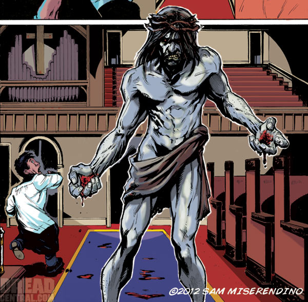 Exclusive Early Look at Zombie Jesus Comic Book Prince of Pieces