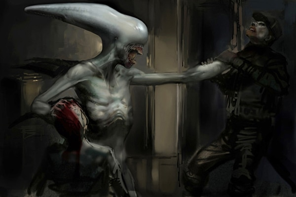proalt2 - A Look at the Version of Prometheus We Almost Saw... Aliens and Chestbursters Included