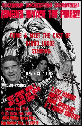 Sopranos Star Vincent Pastore and Porn Princess Jasmin St. Claire to Open a Zombie Filled Blood Lodge