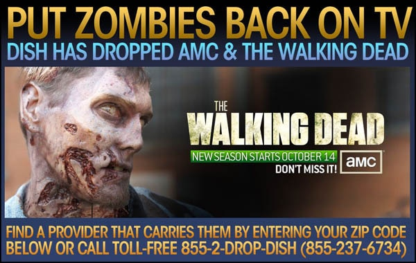 Zombies Invade New York City to Protest the Removal of AMC and The Walking Dead from Dish Network
