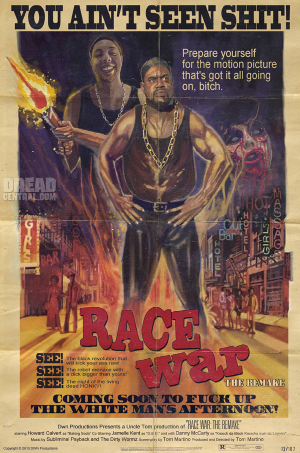 Zombies! Ejaculating Death Robots! It Could Only Be a Race War!