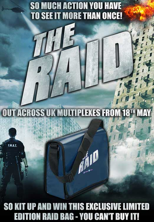 UK Readers: Check Out This Bullet-Ridden New Clip from The Raid and Win a Limited Edition Bag!
