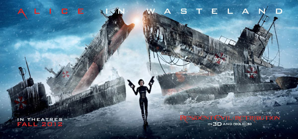 Two Slightly Different Resident Evil: Retribution Banners Featuring - Who Else? - Alice