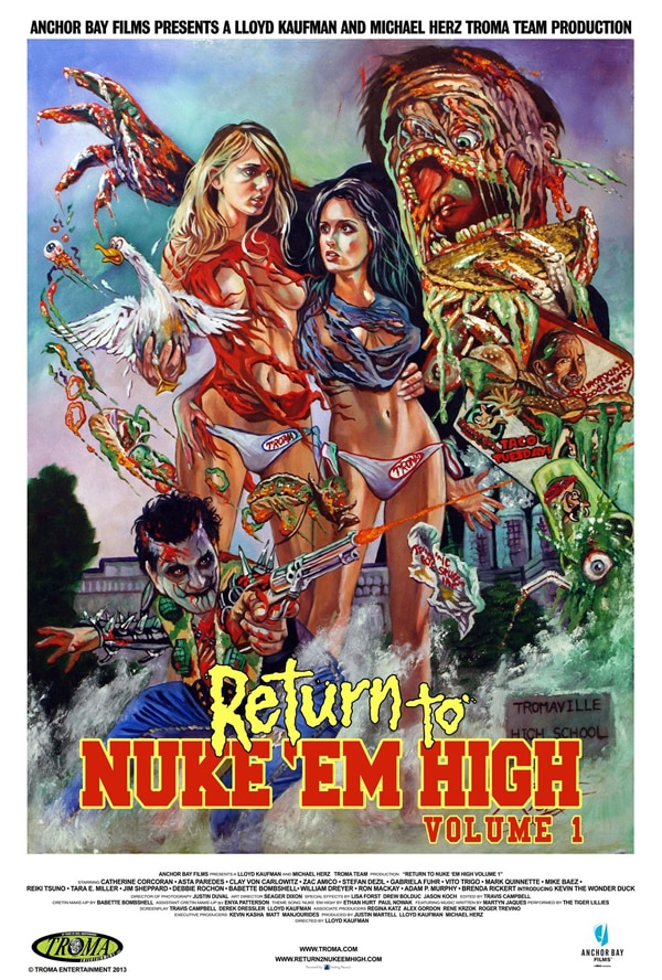 return to nukem high - Lloyd Kaufman and the Stars of Return to Nuke 'Em High: Vol. 1 Talk Troma, Ducks and Giant Members