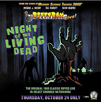 Celebrate Halloween with RiffTrax Live: Night of the Living Dead in Select Theaters
