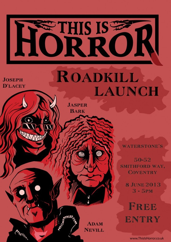 UK Readers: Join Author Joseph D'Lacey for the June 8th Roadkill Launch Event!
