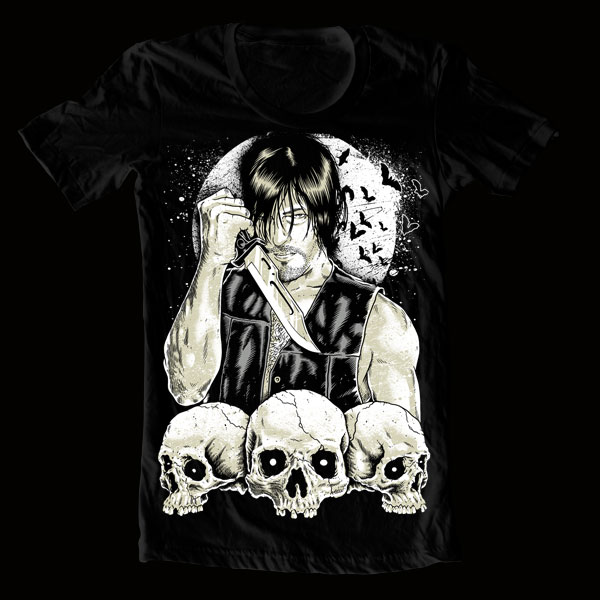 rotten cotton reedus - Attention Walking Dead Fans - Rotten Cotton Releases a Norman Reedus T-Shirt to DIE For