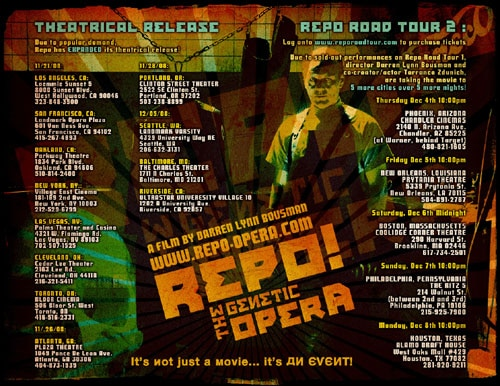 Repo Road Tour (click for larger image)