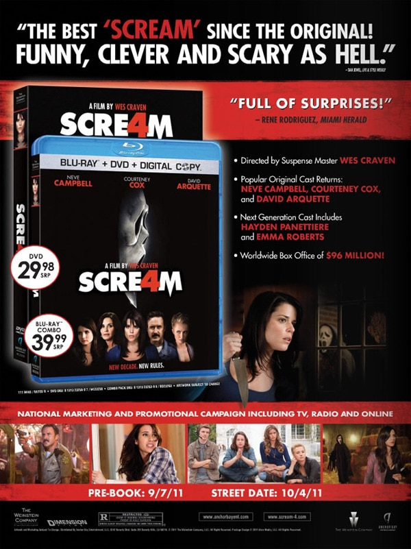 First Look at the Scream 4 DVD and Blu-ray Art
