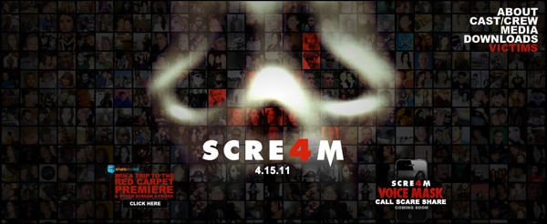 Scream 4 Website Re-Launched with a Scary Twist
