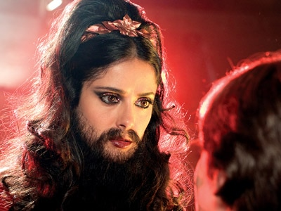 Salma Hayek as the Bearded Lady in The Vampire's Assistant