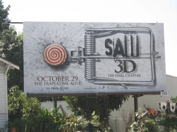 The Traps Have Been Sprung on New Saw 3D Billboard