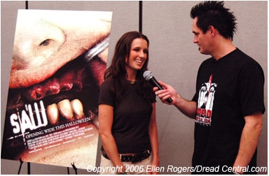 The lovely Shawnee Smith chats with the not-so-lovely Sean Clark