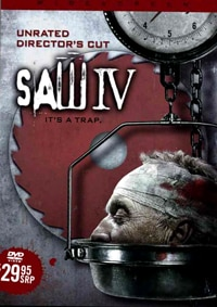 Ad art for Saw IV DVD
