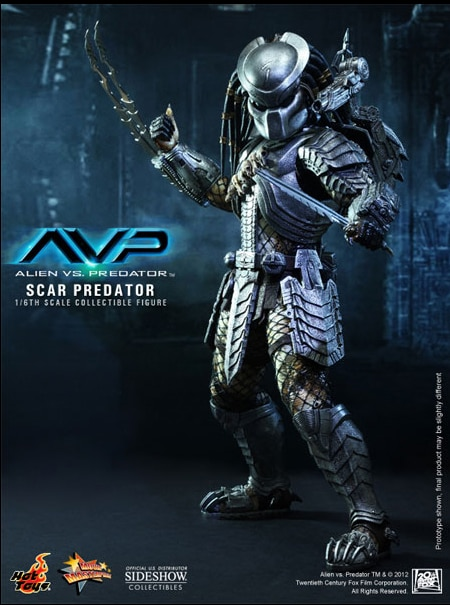 Sixth Scale Scar Predator Figure Coming in May from Hot Toys and Sideshow