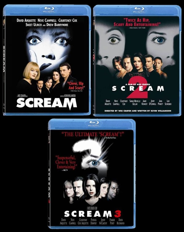 The Scream Trilogy on DVD