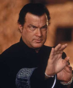 Steven Seagal getting ready to whip Vampire ass!
