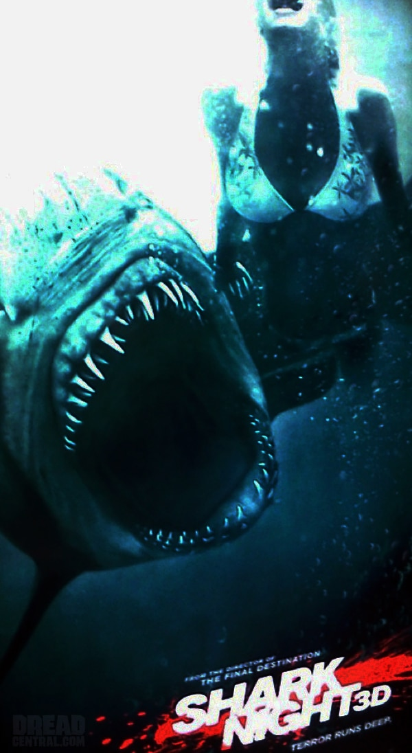 Take a Bite Out of the Shark Night 3D Teaser Poster