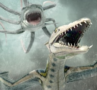 Loving First Poster for Sharktopus vs. Pteracuda