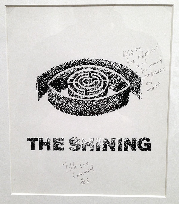 Check Out Some Vintage Saul Bass Rejected Poster Sketches from The Shining