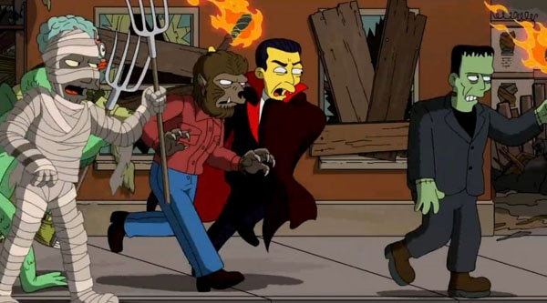 simpsons treehouse 1 - Guillermo del Toro's Simpsons Treehouse of Terror Opening Dissected