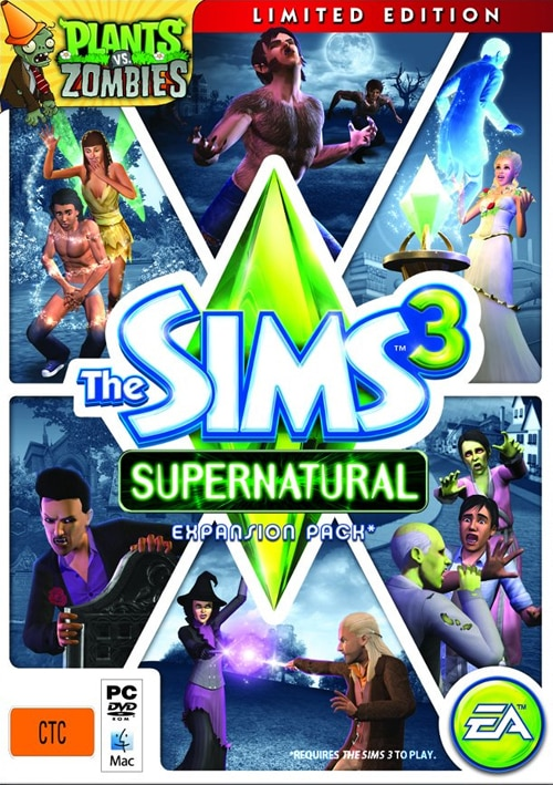Sims 3 Supernatural Pre-order: Plants Vs Zombies Limited Edition Assets