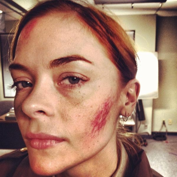 Jaime King Tastes the Wrath of Psycho Santa in First Behind-the-Scenes Image from Silent Night