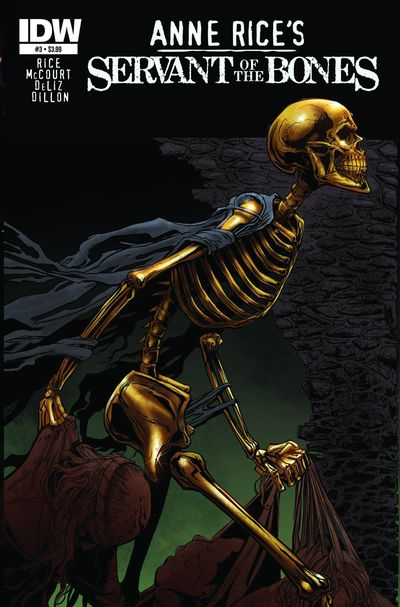 Cover Art for the First Three Issues of Anne Rice's Servant of the Bones Comic Adaptation