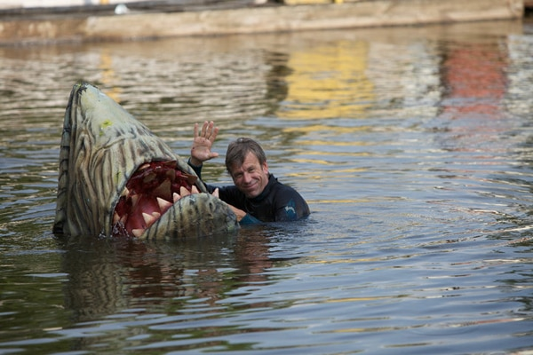 Bloody Behind-the-Scenes Stills from Syfy's Swamp Shark
