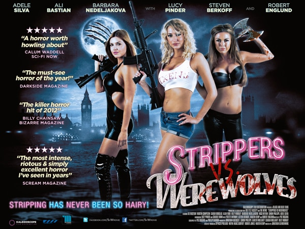 New Strippers vs. Werewolves Quad One-Sheet Has Folks Howling
