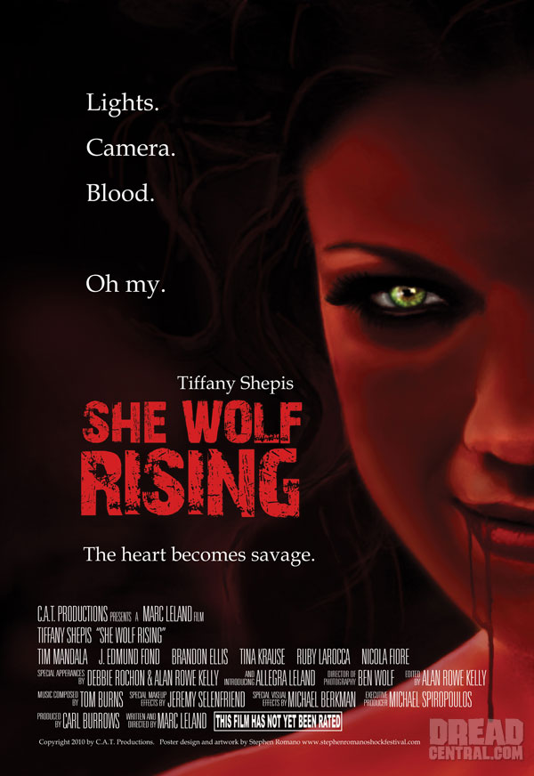 Artwork and Stills: Tiffany Shepis is a She Wolf Rising