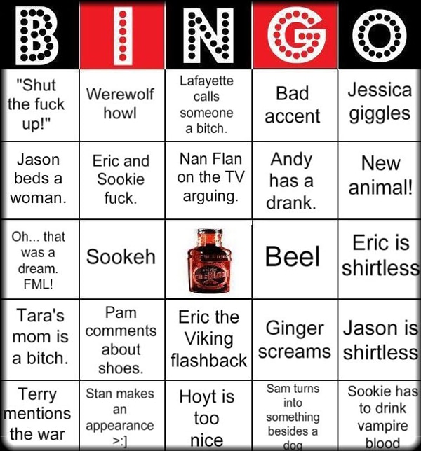 True Blood Bingo and a Clip from Episode 27