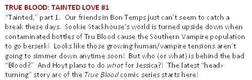 Cover Art and Synopses for All Six Issues of the True Blood: Tainted Love Comic